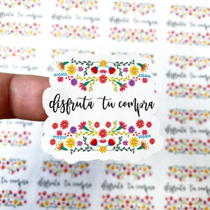 "Packaging Stickers | #SP0016 - DISFRUTA TU COMPRA - ""ENJOY YOUR PURCHASE"""