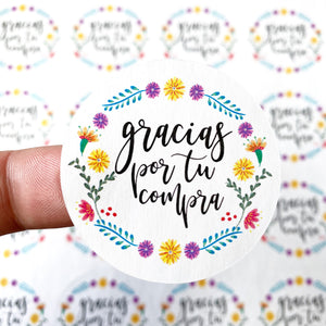 "Packaging Stickers | #SP0018 - GRACIAS POR TU COMPRA - ""THANK YOU FOR YOUR PURCHASE"""