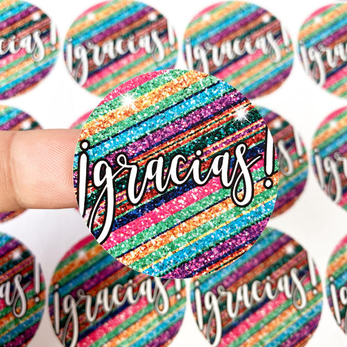 Packaging Stickers | #SP0006 - GLITTER GRACIAS - GLITTER