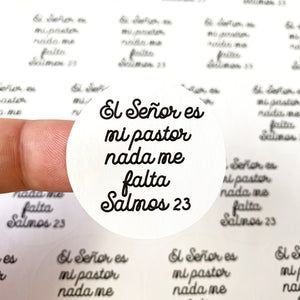 "Packaging Stickers | #SP0026 - SALMOS 23 - ""PSALMS 23"""