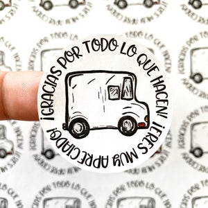 "Packaging Stickers | #SP0032 - GRACIAS FEDEX - ""THANK YOU FEDEX"""