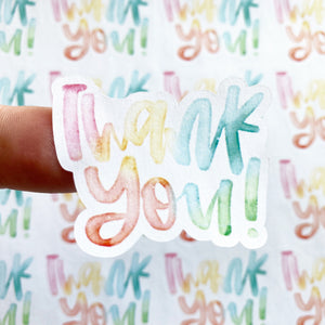 Packaging Stickers | #C0191 - THANK YOU
