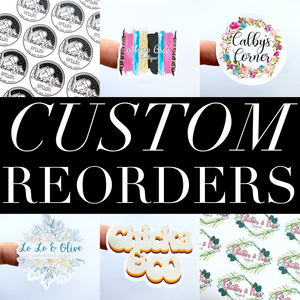 CUSTOM *STICKER* REORDER