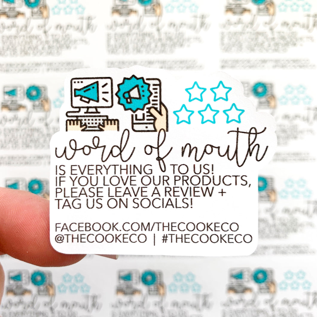 Customizable Packaging Stickers | #0002 - Word of Mouth