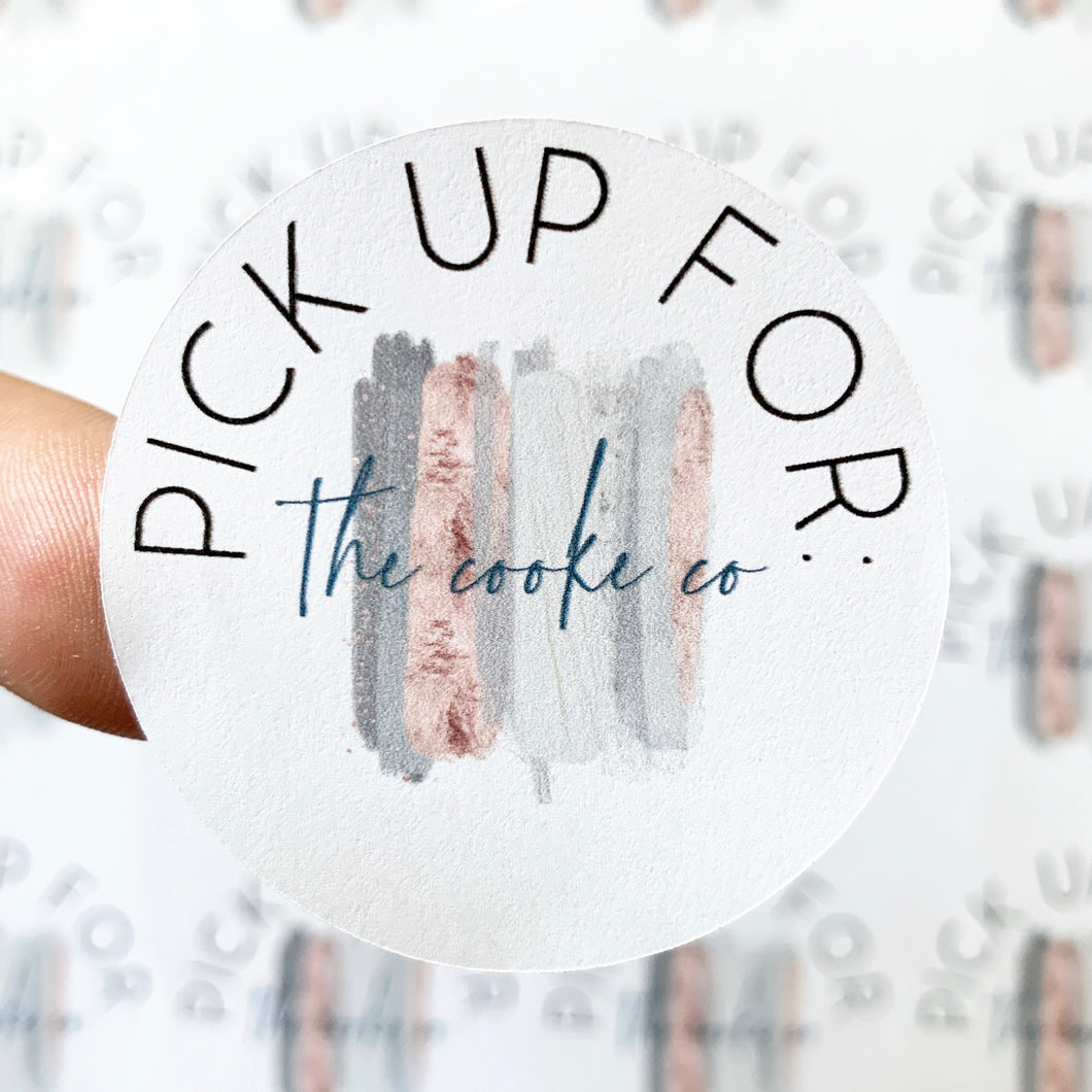 Custom Packaging Stickers | Customizable: #0013 - Pick up For