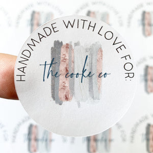 Custom Packaging Stickers | Customizable: #0011 - Handmade With Love For