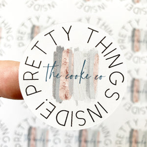 Custom Packaging Stickers | Customizable: #0018 - Pretty Things Inside