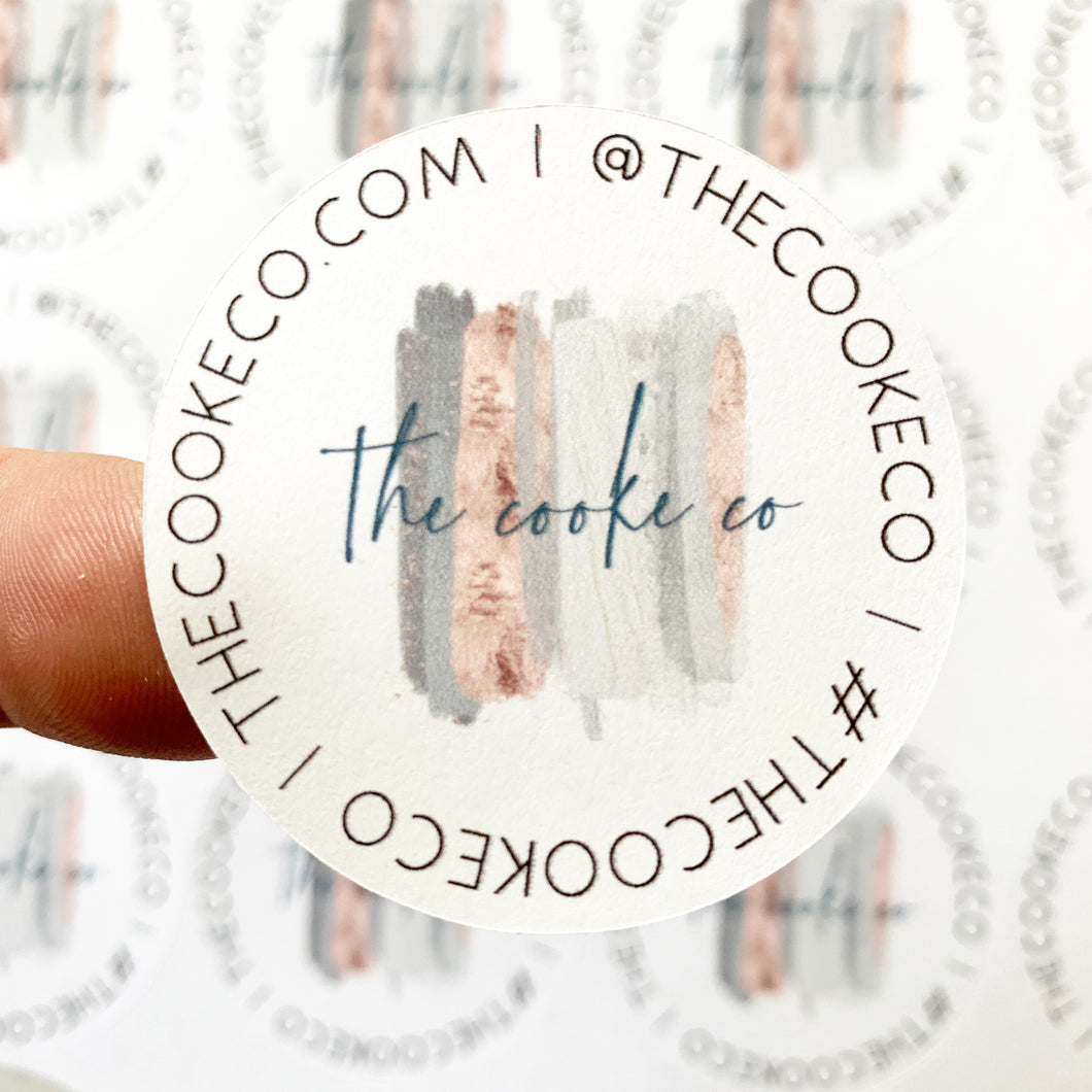Custom Packaging Stickers | Customizable: #0022- Shop Info Only
