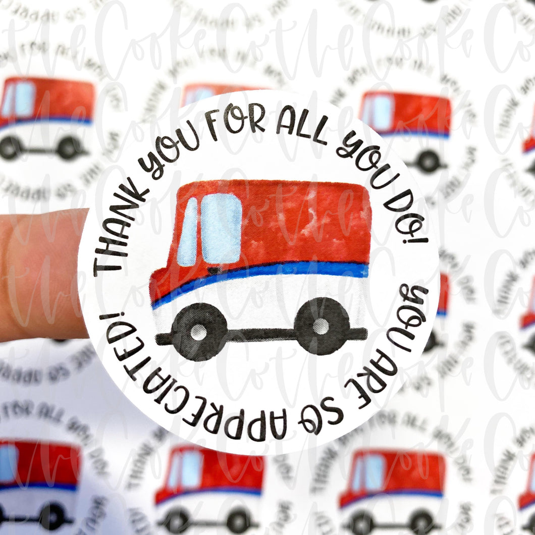Packaging Stickers | #C0256 - CANADA POST THANK YOU
