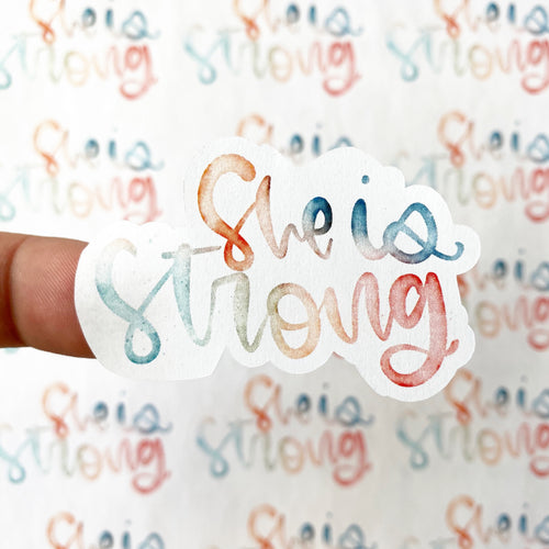 Packaging Stickers | #C0156 - SHE IS STRONG