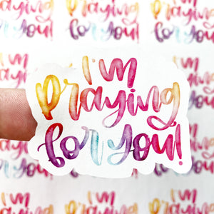 Packaging Stickers | #C0163 - I'M PRAYING FOR YOU
