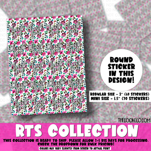RTS Packaging Stickers | RTS0041 - PURPLE & PINK FLORAL