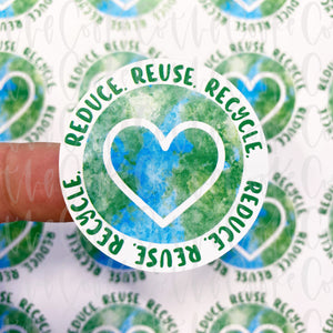 Packaging Stickers | #C0220 - REDUCE, REUSE, RECYCLE