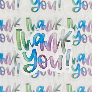 Packaging Stickers | #C0370 - THANK YOU - WATERCOLOR WINTER