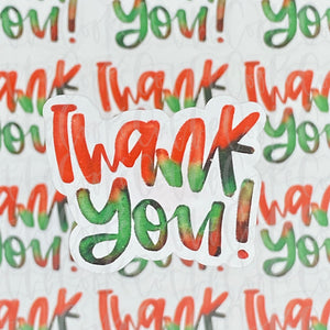 Packaging Stickers | #C0372 - THANK YOU - WATERCOLOR HOLIDAY
