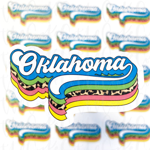 Packaging Stickers  | #C0329 - RETRO STATES