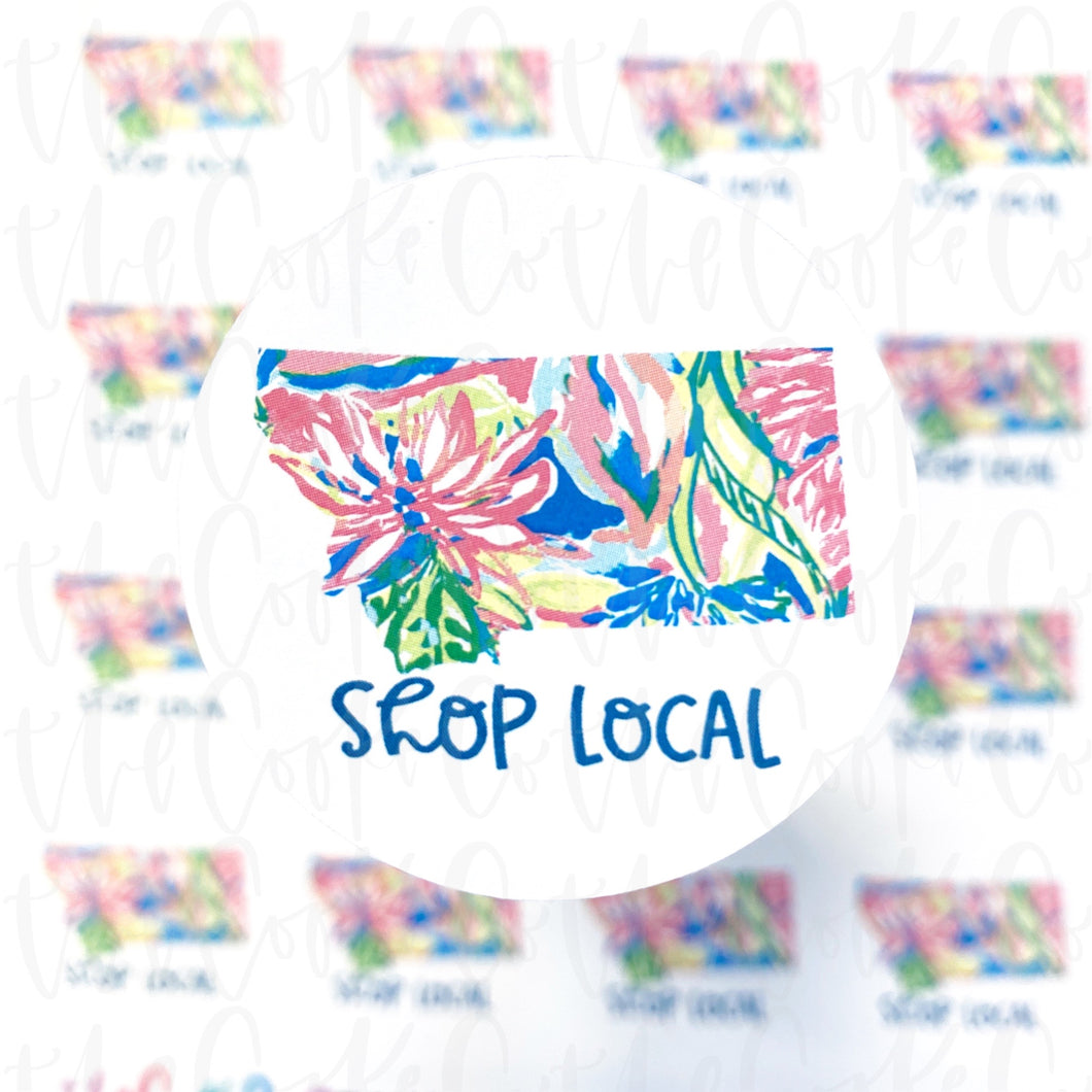 Packaging Stickers  | #C0328 - SHOP LOCAL STATES