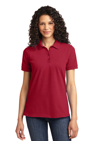 Port & Co Ladies 50/50 Pique Polo