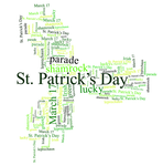 Shamrock St Patrick's Day Word Cloud