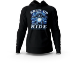 Skeleton Motorcycle Black Hoodie