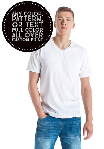 V Neck T-Shirt : Custom All Over Print