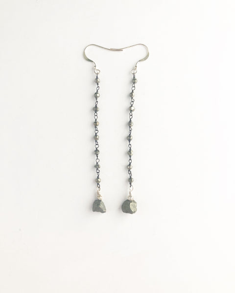 Pyrite beaded earrings