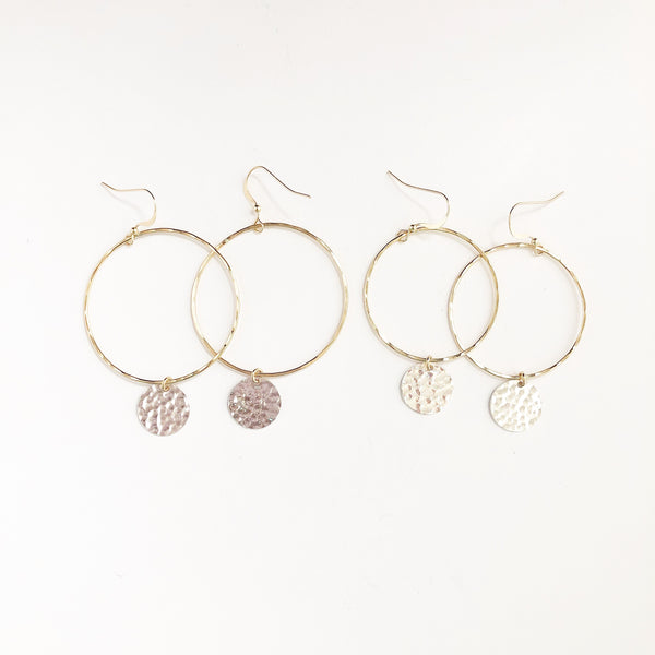 The Blitzen hoop earrings