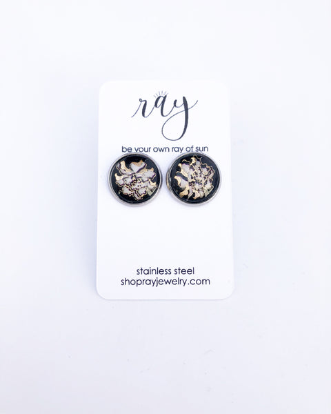 Studs - XL Japanese floral Studs