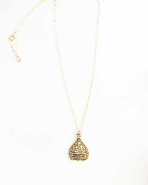 Bodhi Tree charm necklace