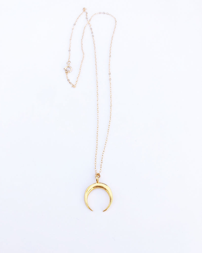 Gold Vermeil Crescent Moon Necklace
