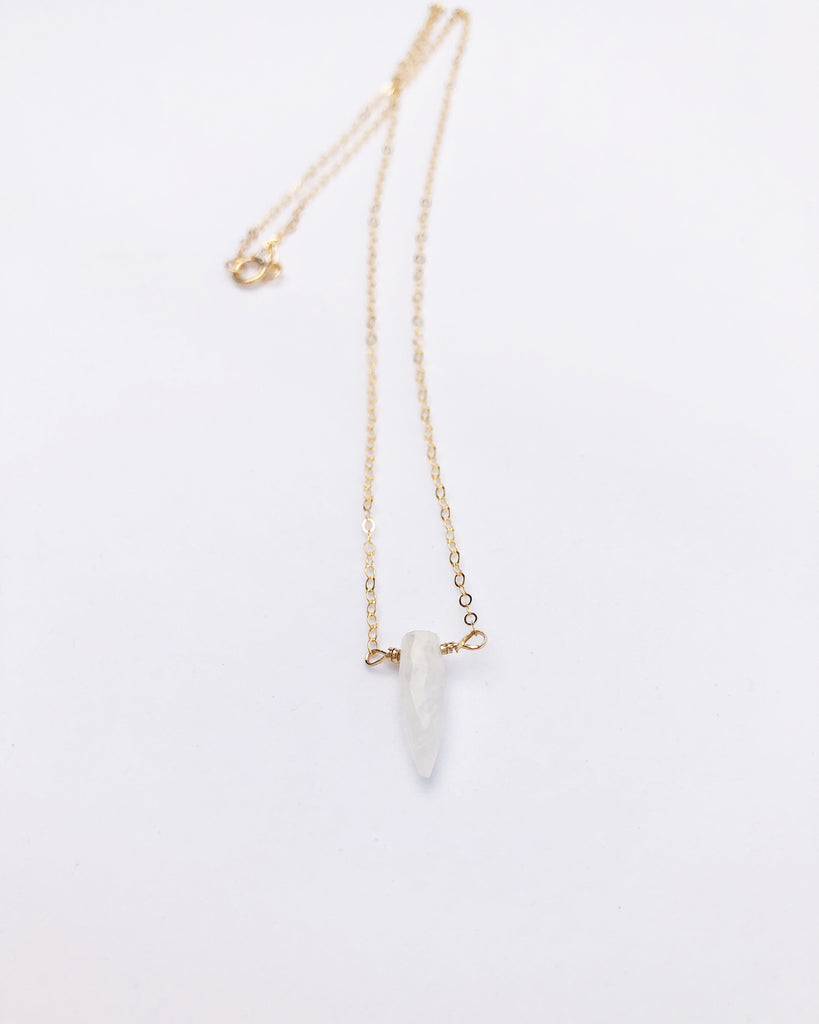 Petite Moonstone Spike Necklace