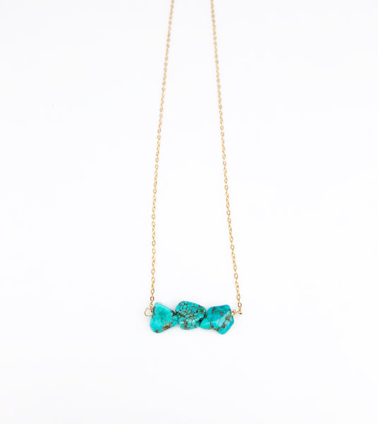 Turquoise Trio Choker necklace