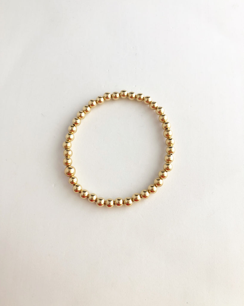 14k gold filled dainty beaded bracelet