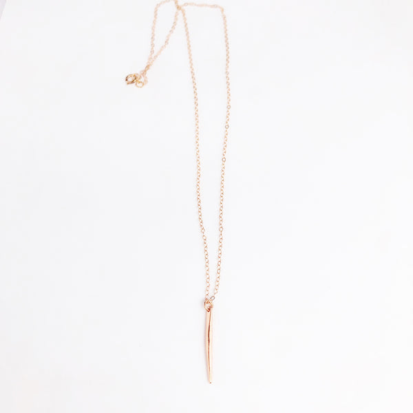 Rose Gold Spike Necklace