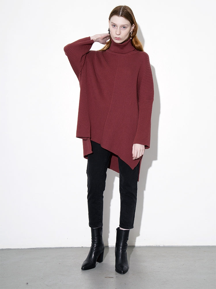 Oak Massive Turtleneck Sweater in Burnt Orange in Burnt Orange by Oak