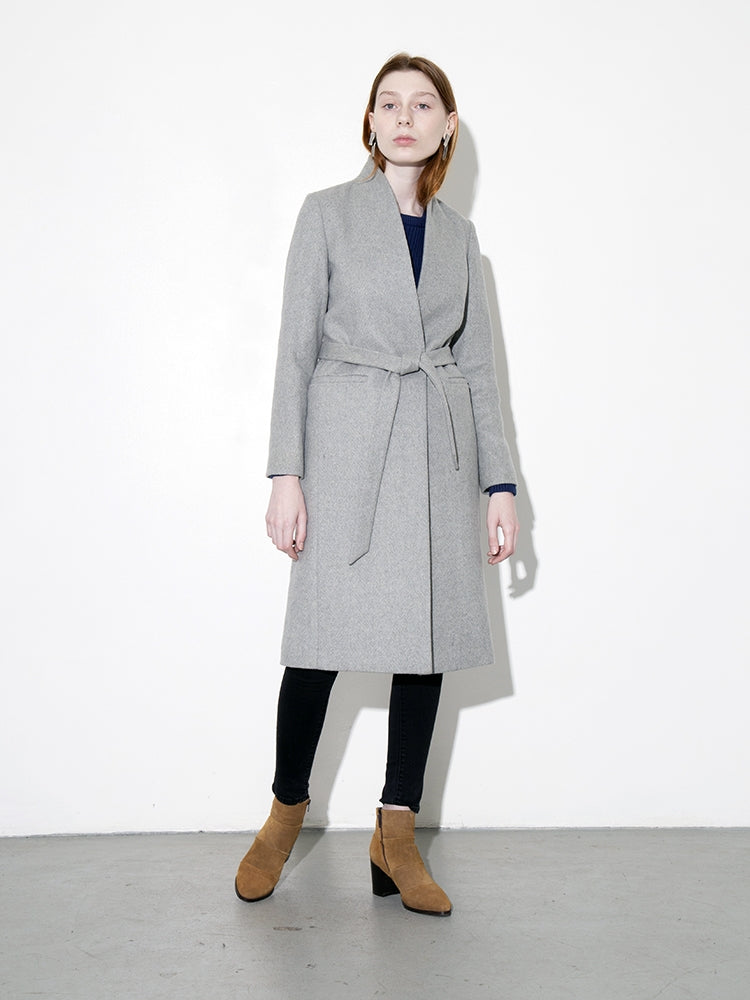 Oak Tailored Overcoat in Grey in Grey by Oak