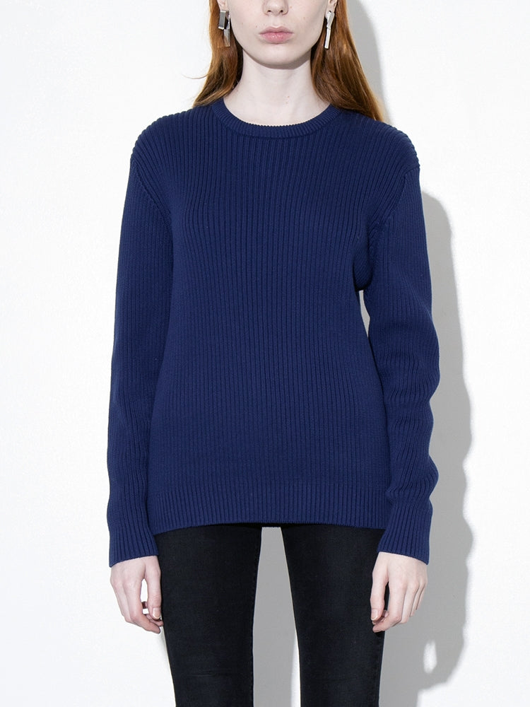 Oak Mercer Sweater in Midnight in Midnight by Oak