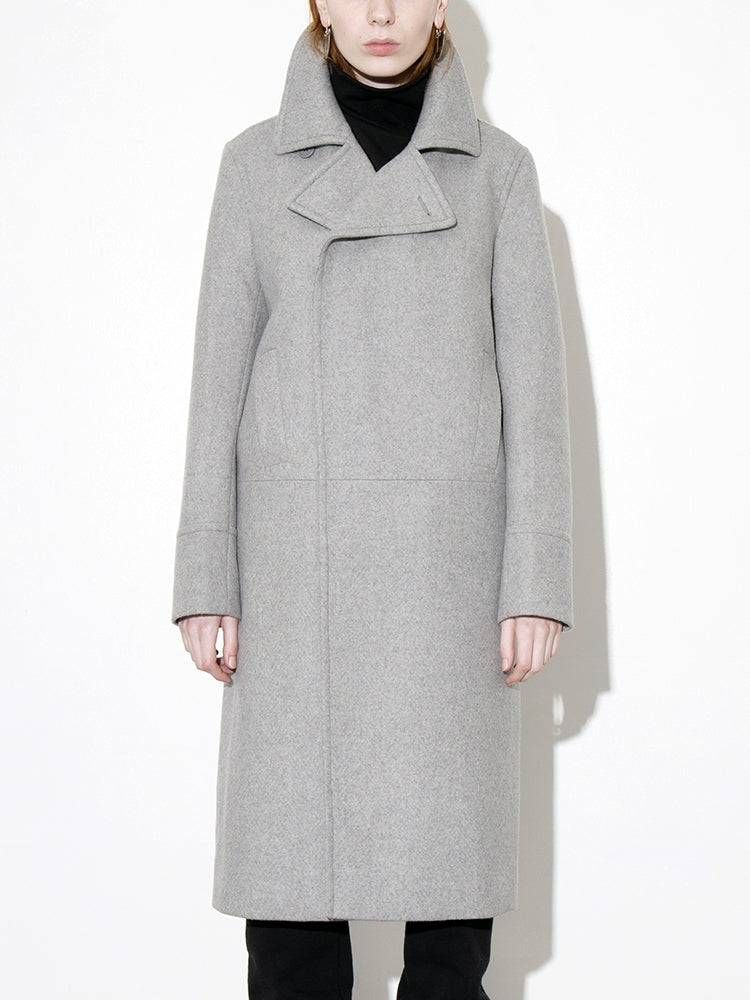 Officer's Coat in Grey by Oak
