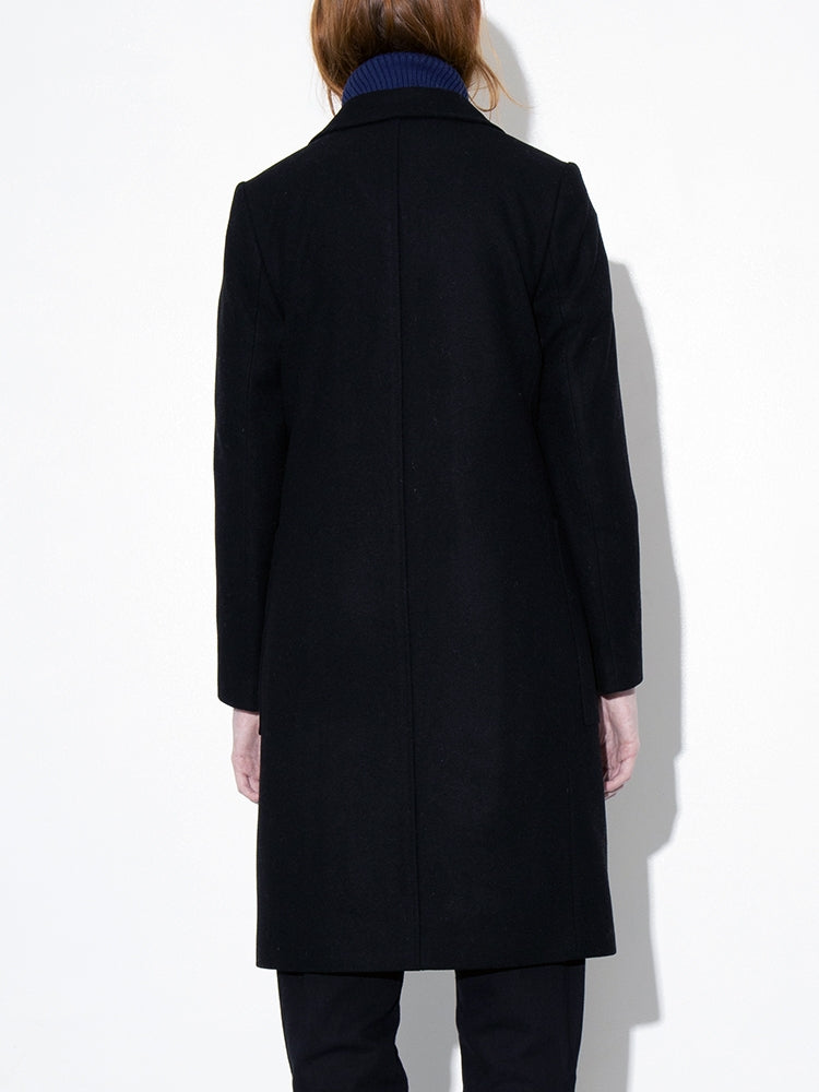 Load image into Gallery viewer, Oak Double Breasted Overcoat in Black