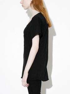 Oak Torque Tee in Black in Black by Oak