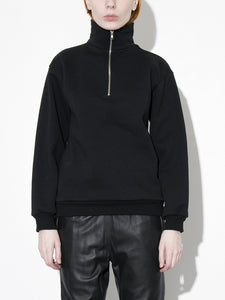 Oak Half Zip Pullover in Black in Black by Oak