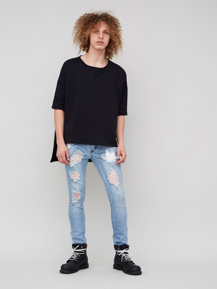 Load image into Gallery viewer, Slouch Skinny Destroyed Jean