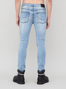 Slouch Skinny Destroyed Jean in Indigo by Oak