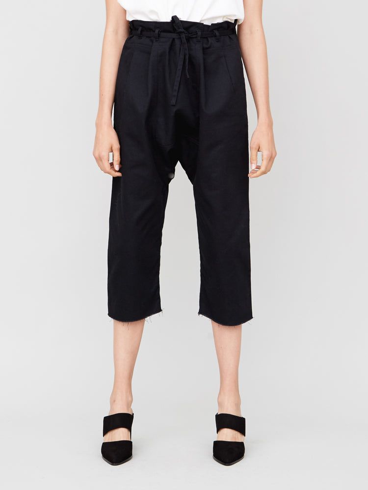 Oak Cropped Karate Pant in Black in Black by Oak