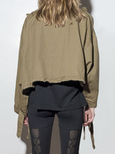 Load image into Gallery viewer, Oak Crop Cargo Jacket in Olive
