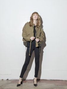 Oak Crop Cargo Jacket in Olive in Olive by A/OK OOS