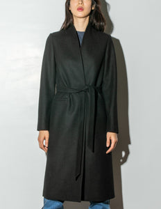 Tailored Overcoat in Black by Oak