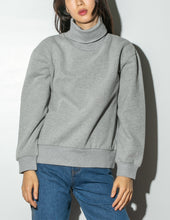 Load image into Gallery viewer, Oak Turtleneck Sweatshirt in Heather Grey