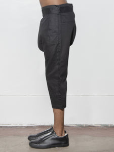 Belted Karate Pant in Black by Oak