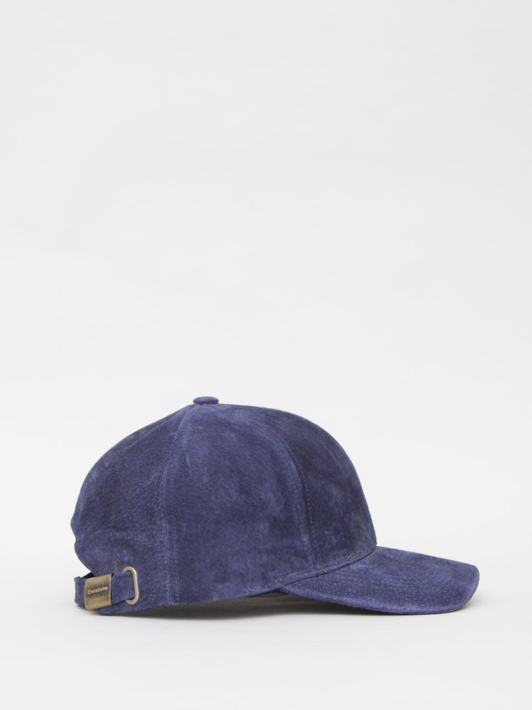 Load image into Gallery viewer, Suede Baseball Cap in Navy by Oak
